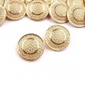 5 boutons 17 mm metal or ciseles arabesques