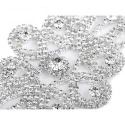 Grosse application strass cristal 10 cm