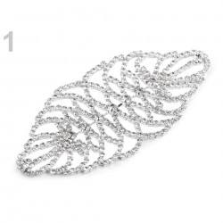 Grosse application strass cristal 10 cm