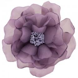 Fleur organza violet mauve
