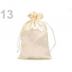3 Sac sachet en satin 11 x 17 cm ivoire 13