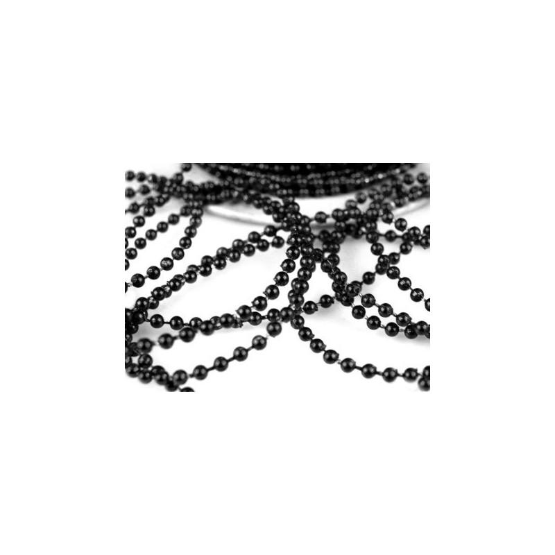 3 metres de fil de perles 3 mm sur fil - noir