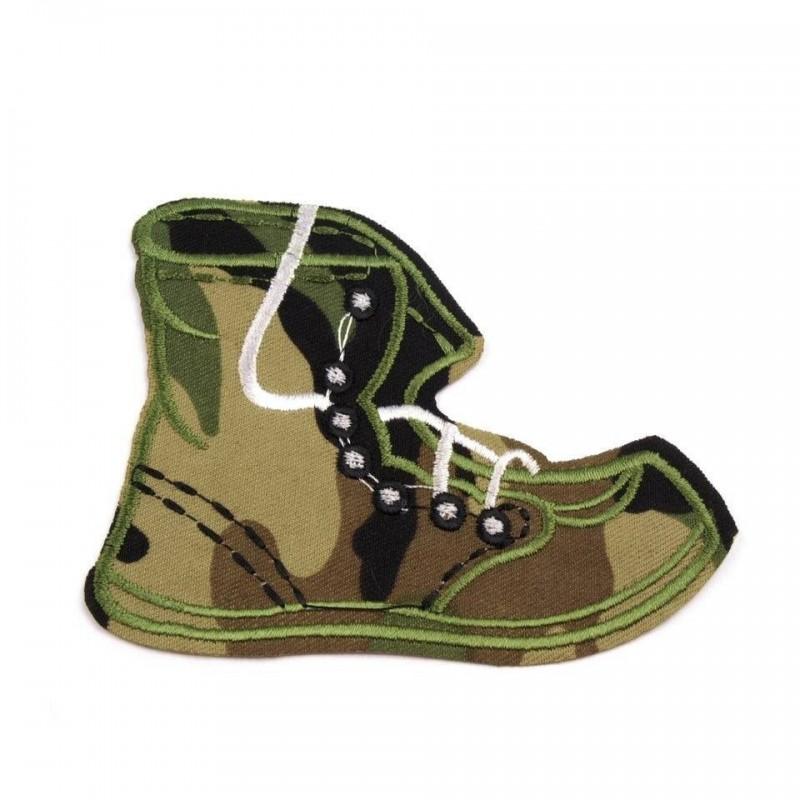 2 appliqués camouflage chaussures rangers