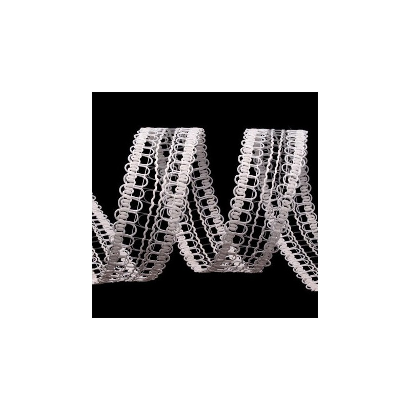 Ruban ajoure blanc 4 cm effet dentelle