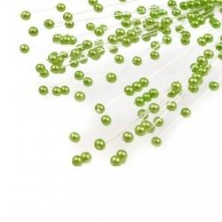 Bouquet de 10 tiges de perles sur nylon vert