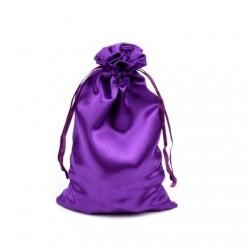 Sac sachet en satin 11 x 17 cm violet