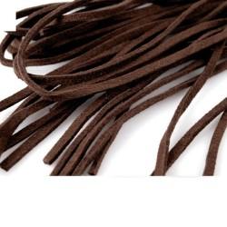 4 Cordon de suède effet cuir daim marron 1 m x 3 mm