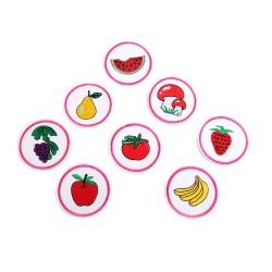 8 Appliqués thermocollant fruits et légumes 5 cm