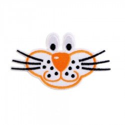 2 Appliqués thermocollant tigre ou chat 93 x 57 mm