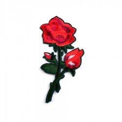 Appliqué thermocollant fleur rose 5 x 13 cm