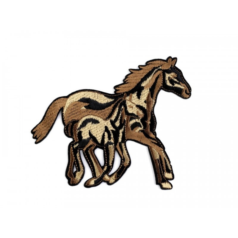 Appliqué cheval thermocollant 10 x 12 cm