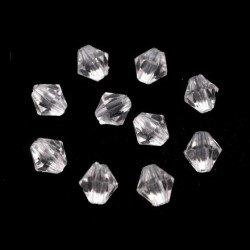 100 perles cristal 6 mm a facettes transparent