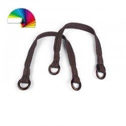 2 Anses sac corde noire, avec boucle