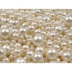 Perles nacre en verre 4 - 12 mm