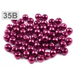 Perles nacre verre 6 mm