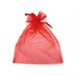 1 sachet organza rouge 20 x 26 cm emballage