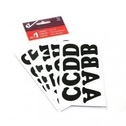 40 Lettres alphabet noires a thermocoller au fer