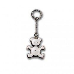Charm breloque nounours metal argent pendentif porte-cle