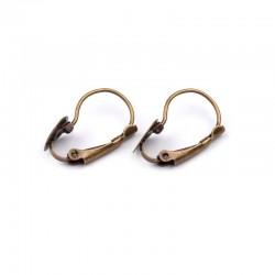 support de clips boucles d'oreilles argent