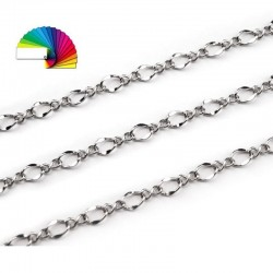 Chaine maille longue en metal cuivre 5 mm