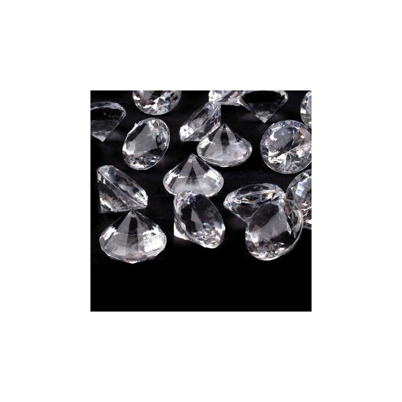 45 diamants synthetiques transparents cristal pour decoration