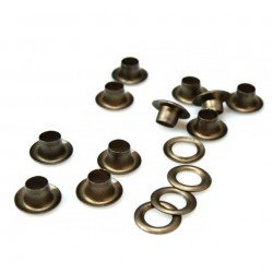 100 oeillets 5 mm bronze