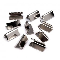 10 embouts metal  terminaison sangle