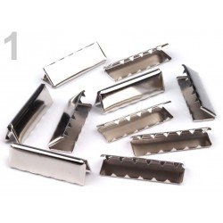 10 embouts metal  terminaison sangle