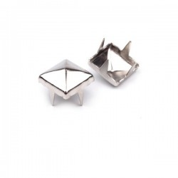 50 rivets crampons pyramide metal argent 7 mm