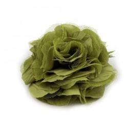 Grosse fleur broche ou cheveux 9 cm