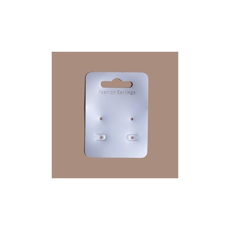 20 support cartonnette double 7 x 5 cm pour presenter boucles d'oreilles