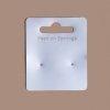 20 support cartonnette 6 x 5 cm pour presenter boucles d'oreilles