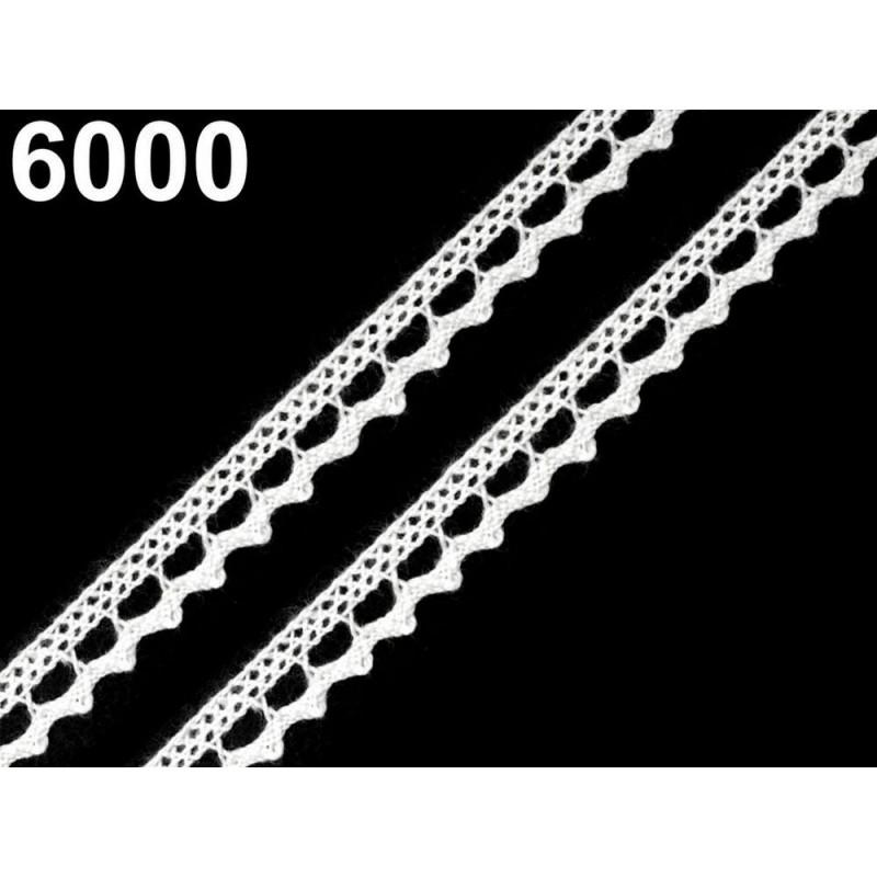 Ruban dentelle coton 9 mm