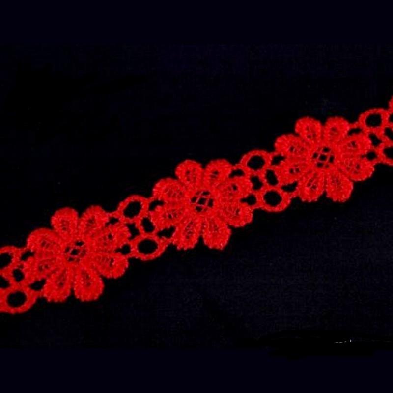 Ruban guipure dentelle fleurs 20 mm