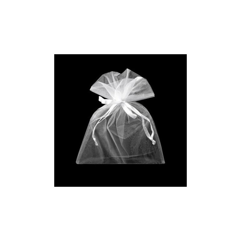 1 sachet organza blanc  20 x 26 cm emballage