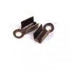 10 embouts collier metal bronze a serrer 7 x 2.5 mm
