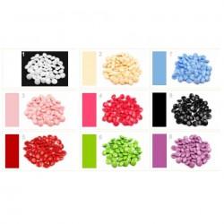 10 boutons pastilles 12 mm brillants