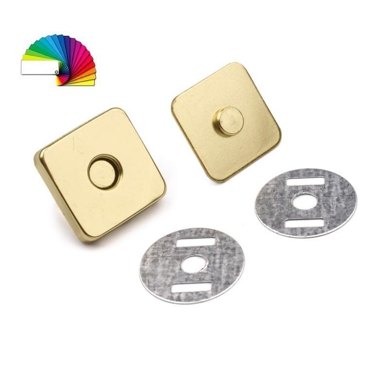 Fermoir magnetique sac carre metal or 18 mm