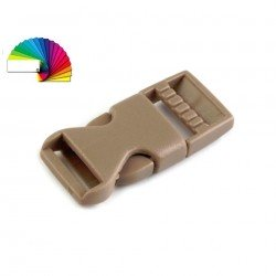 2 Boucle plastique pour sangle 15 mm marron beige