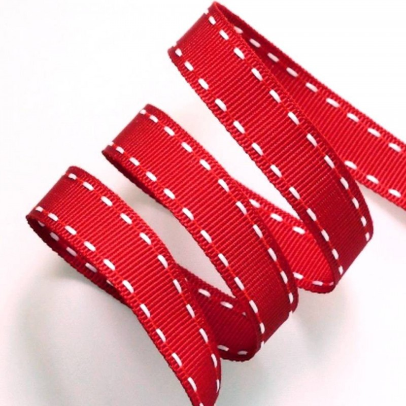 Ruban grosgrain surpiqures 15 mm