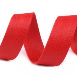 Biais 15 mm en cuir synthetique galon rouge pour finitions et bordures