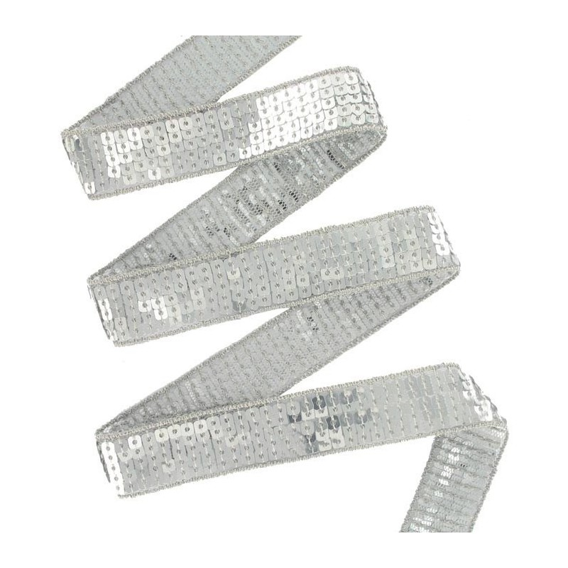 Galon sequins paillettes 25 mm