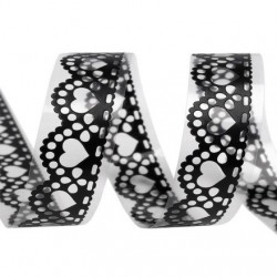 Masking tape ruban adhesif motif dentelle noire 18 mm
