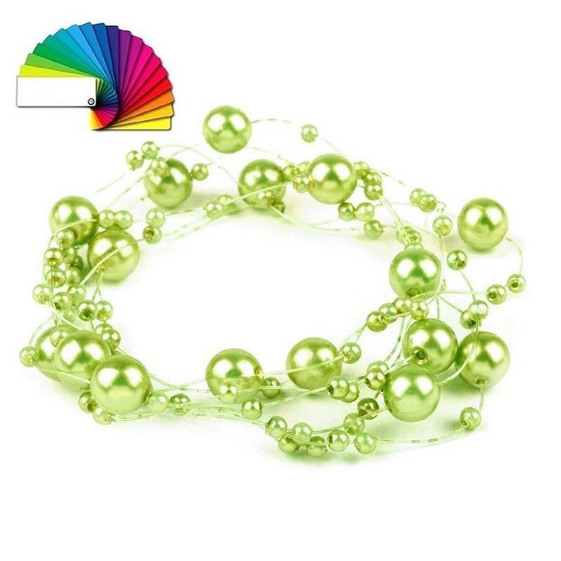 3 guirlandes perles 130 cm