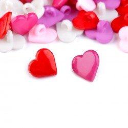 5 boutons coeur