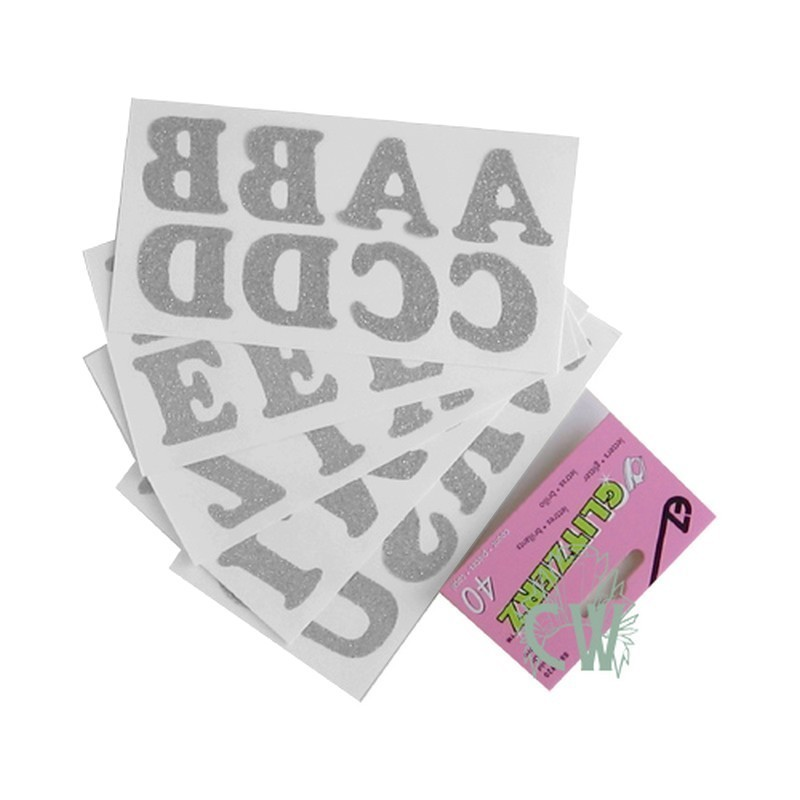40 Lettres alphabet thermocollantes 33 mm