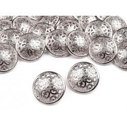 5 boutons métal ciselé arabesque