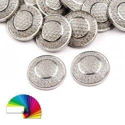 5 boutons métal ciselé