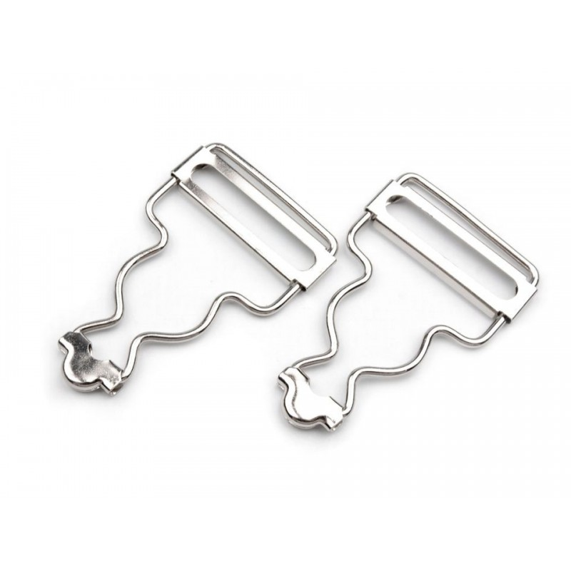 2 boucles métal 30 mm type salopette