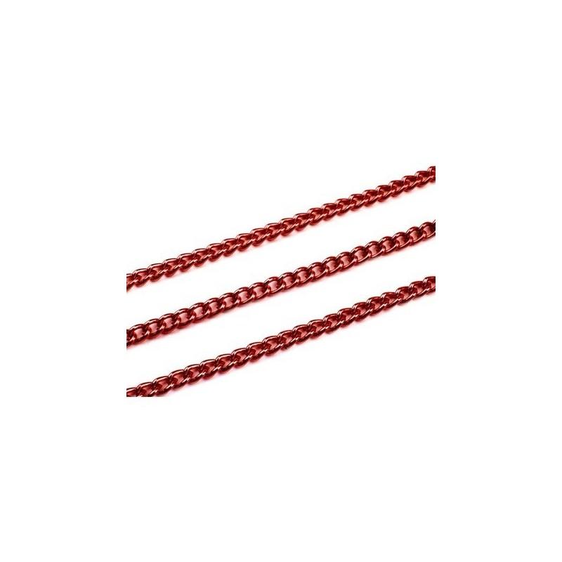 Chaine en metal rouge 5 mm vendue au metre